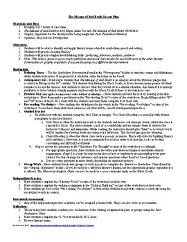 The Masque of the Red Death by Edgar Allan Poe Lesson Plan, Questions, Key