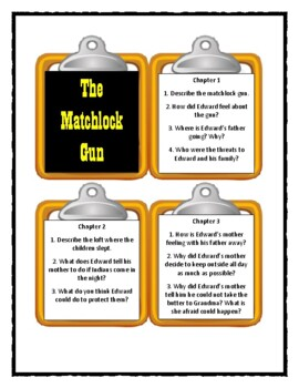 THE MATCHLOCK GUN by Walter D. Edmonds - Discussion Cards