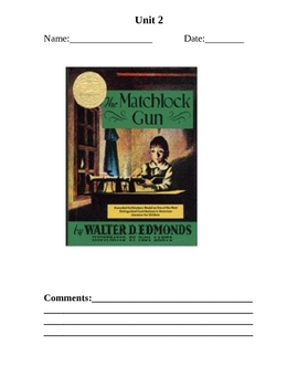 The MatchlockGun Complete Literacy Guide Historical Fiction
