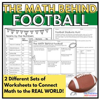 The Math Behind Football | Super Bowl Activities