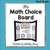 The Math Choice Board {First Grade}