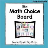 The Math Choice Board {Fourth Grade}
