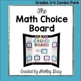 The Math Choice Board {Grades 3-4 Combo Pack}