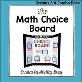 The Math Choice Board {Grades 3-4 Combo Pack BUNDLE}