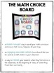 The Math Choice Board {Grades 3-4 Combo Pack BUNDLE}