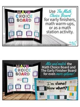 The Math Choice Board {Second Grade}