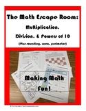 The Math Escape Room: Multiplication, Division, & Powers of 10