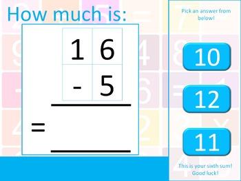 The Math Machine - Subtraction (Common Core aligned)