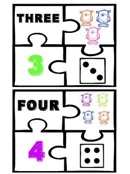 The Math Monster - Number Puzzles 1-10