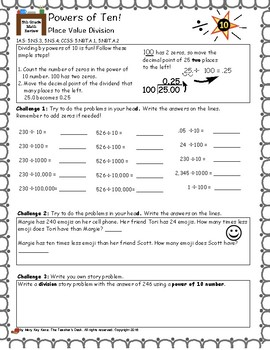 The Math Review Grade 5, Place Value and Powers of Ten Numbers