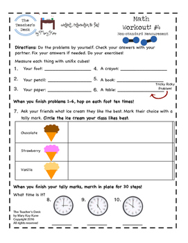 The Math Workout 1st Grade: Measuring and Spiral Review