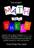 The Student Math Cheat Sheet