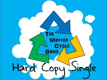 The Matter Cycle Game (Carbon, Water, Nitrogen Cycle Board Game) HARD COPY
