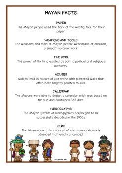 The Maya Fact Cards