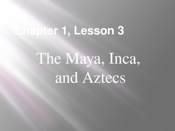 The Maya, Inca, Aztecs PPT