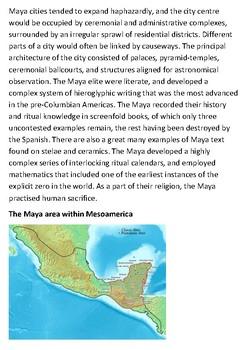 The Maya civilization Handout