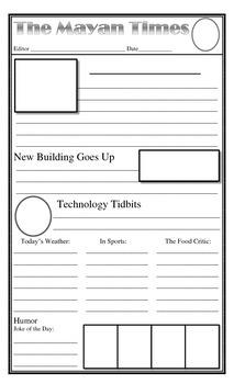 Blank Newspaper Style Report Writing