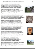 The Mayans (7) - Poem, Worksheets and Puzzle