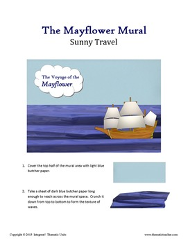 The Mayflower:  A Simple Mural