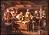 The Pilgrims and the Mayflower Compact, A Play (includes f