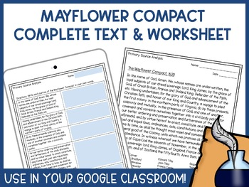 The Mayflower Compact - Lesson and Activities