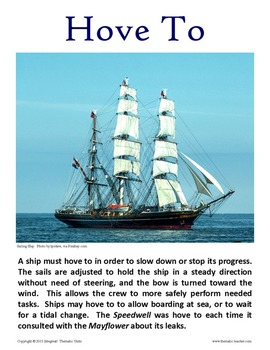The Mayflower:  Display Cards