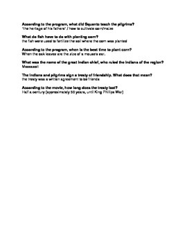 The Mayflower Voyagers   Peanuts   Thanksgiving   Questions