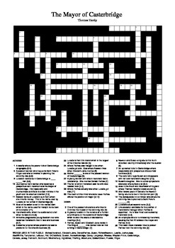 The Mayor of Casterbridge - Crossword Puzzle