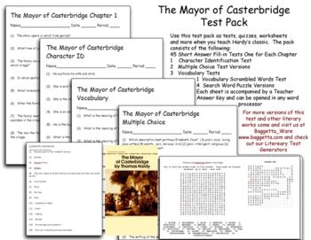 The Mayor of Casterbridge Test Pack  Thomas Hardy
