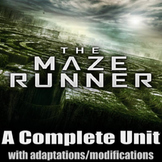 The Maze Runner - Complete Unit with Adaptions / Modifications