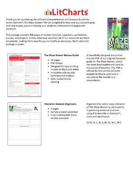 The Maze Runner – Comprehension and Analysis Bundle