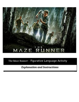 The Maze Runner - Figurative Language Activities