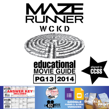 The Maze Runner Movie Guide | Questions | Worksheet (PG13 - 2014)