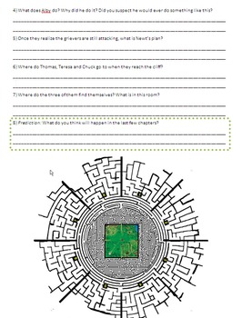The Maze Runner - Reading Guide, Comprehension Questions and Activities