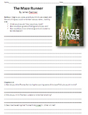 The Maze Runner Unit Plan -Reading Guide, Comprehension Questions and Activities