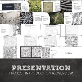 The Maze Runner Visual Art Project: Zentangle Maze PowerPoint, Lesson, Worksheet