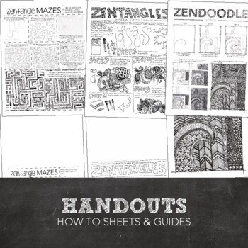 Maze Visual Art Project: Zentangle Maze PowerPoint, Lesson, Worksheet