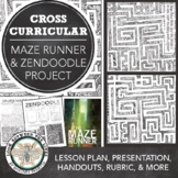 The Maze Runner Visual Art Project: Zentangle Maze PowerPoint, Lesson, Worksheet