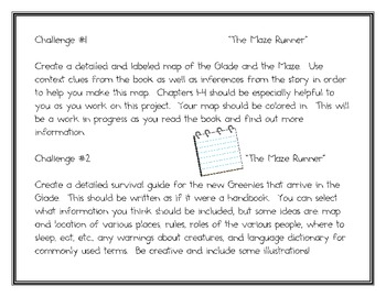 """""""The Maze Runner"""", by J. Dashner, 12 Project Challeges"""