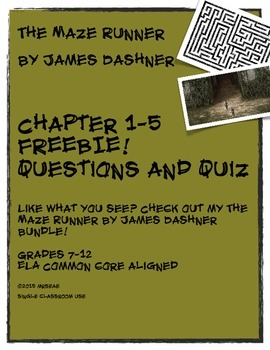 The Maze Runner by James Dasher FREEBIE!