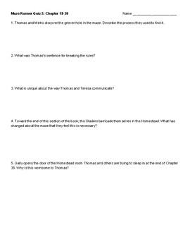 The Maze Runner novel quiz series