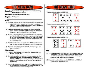 The Mean Game