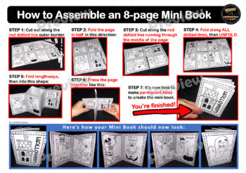 The Meaning of Christmas 8-Page Mini Book (Colouring-In Book) with Instructions