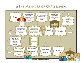 {The Meaning of Christmas} Carryover Level Board Game: Articulation + Stuttering
