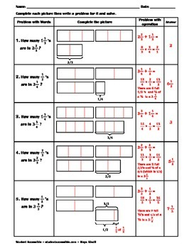 The Meaning of Dividing Mixed Numbers Worksheet