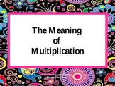 The Meaning of Multiplication as Repeated Addition, Groups, & Arrays