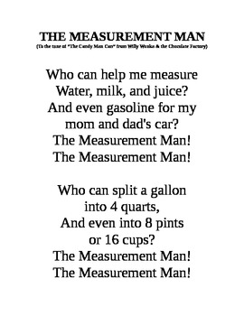 The Measurement Man Can Song