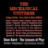 The Mechanical Universe Red · Intro, Math & Other BUNDLE