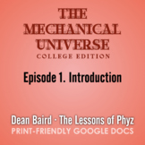 The Mechanical Universe Episode 01: Introduction
