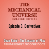 The Mechanical Universe Episode 03: Derivatives
